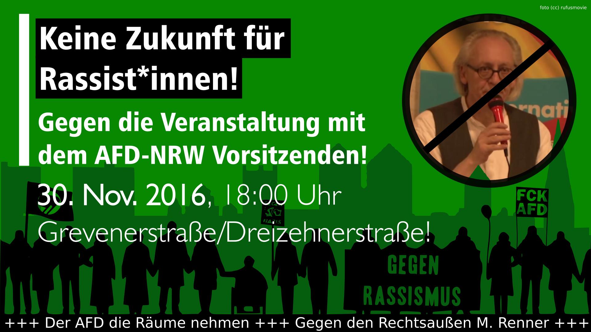 Am 30.11 gegen Martin Renner in der Grevenerstraße!