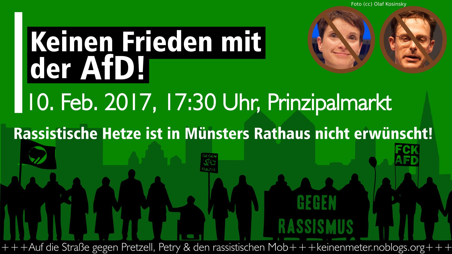 Gegen Pretzell, Petry & den rassistischen Mob der AfD!