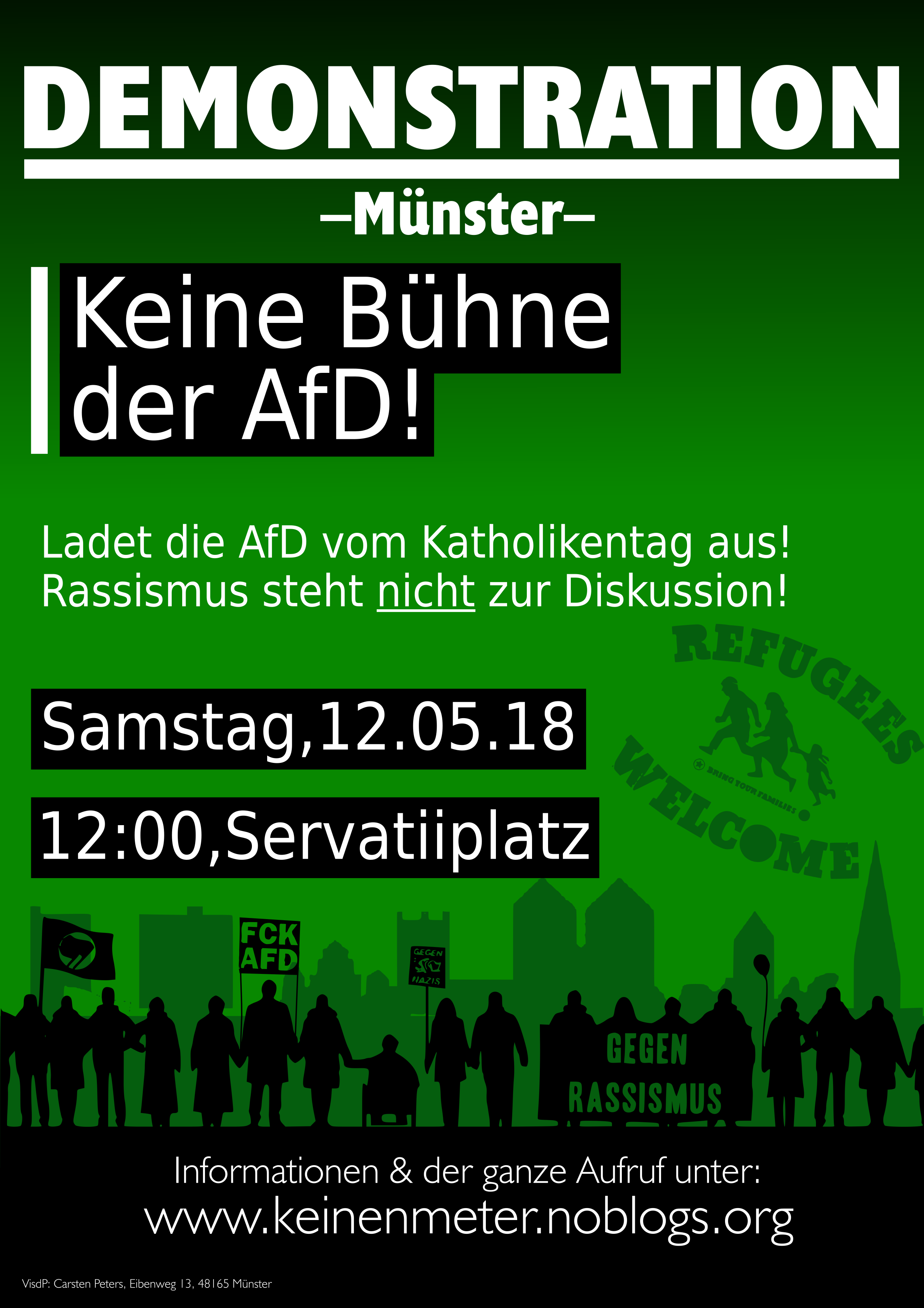 "Bündnis ""Keinen Meter den Nazis"" Münster"